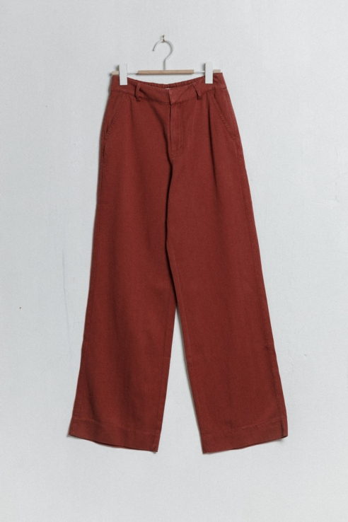 palazzo red trousers