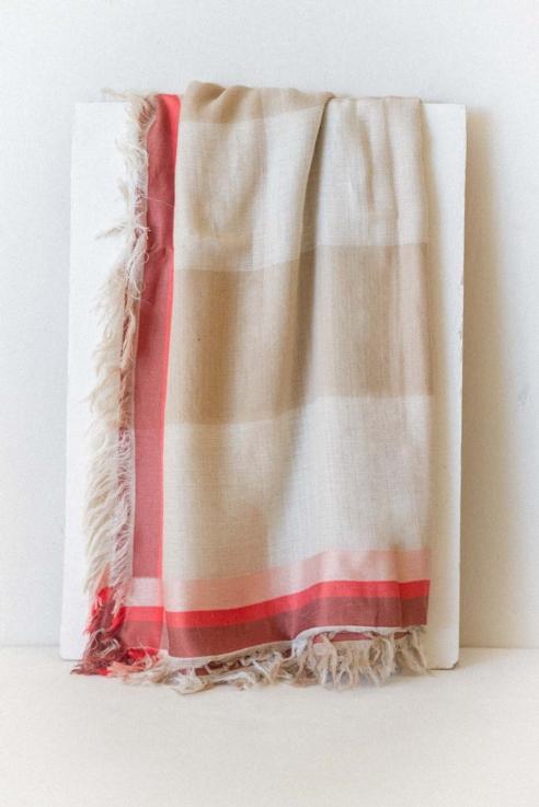 double beige scarf