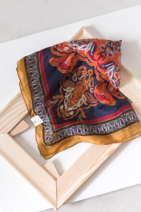 pañuelo seda multicolor
