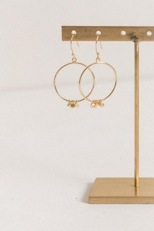 hoop coins earrings