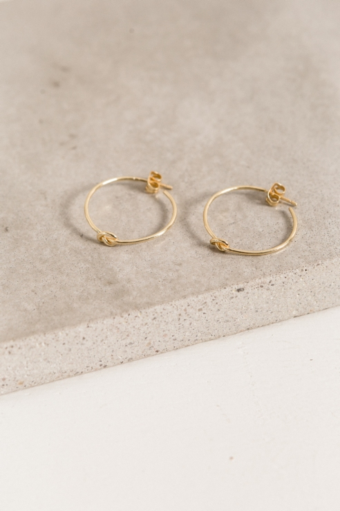 hoop knot earring