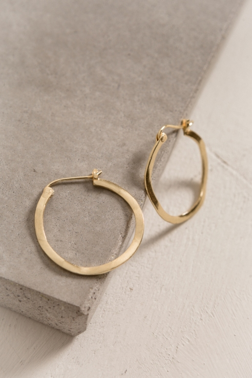 hoop textured earrings