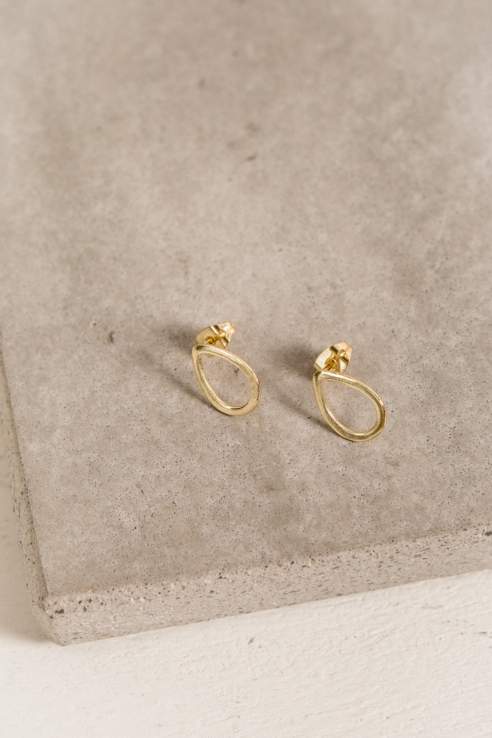 mini tear earrings