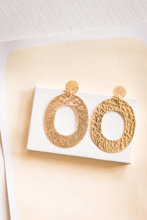 maxi pendientes dorado geométricos