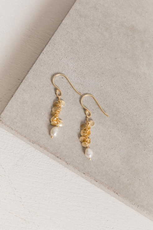 waterfall pearl earrings