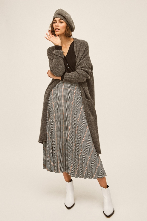 long grey maxi cardigan