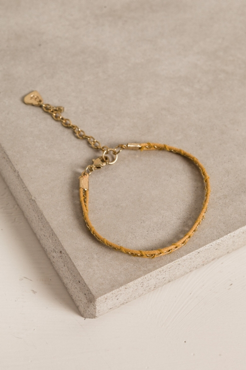 semi-rigid cord bracelet