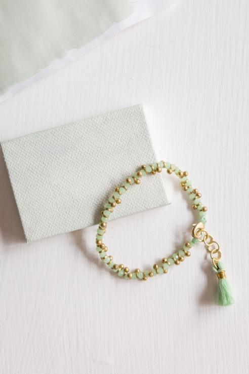 pulsera pompón verde