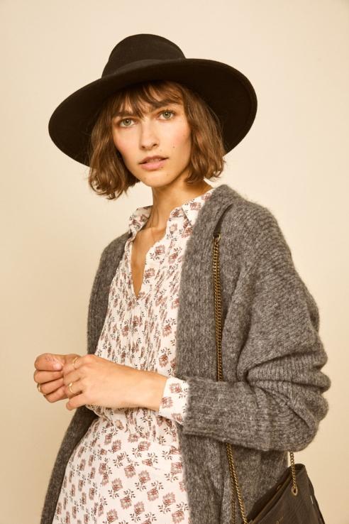 sombrero estilo fedora castaño