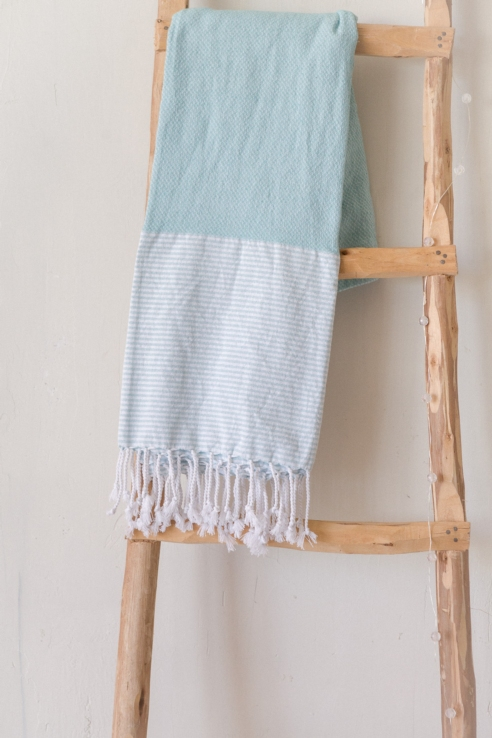 blue cotton towel