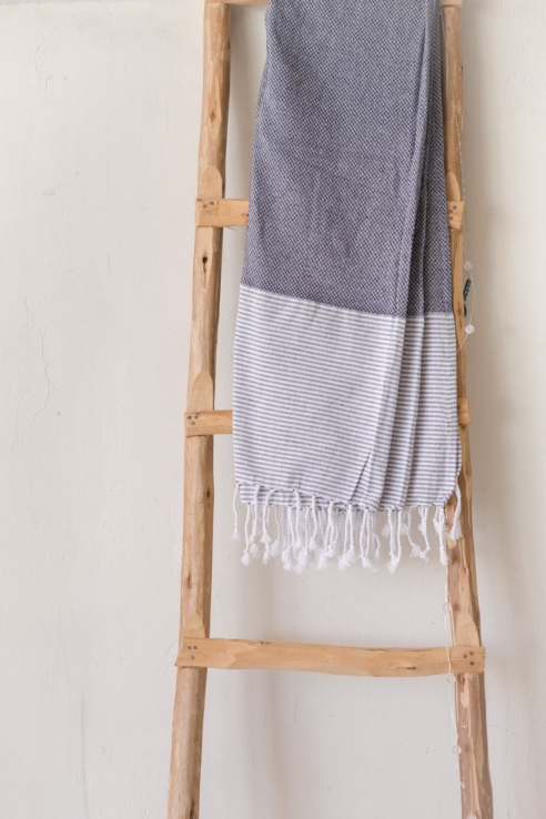 navy cotton towel