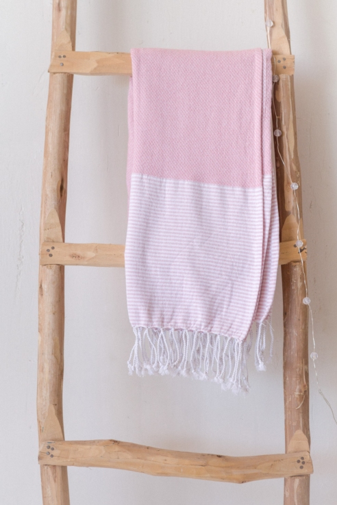 pink cotton towel