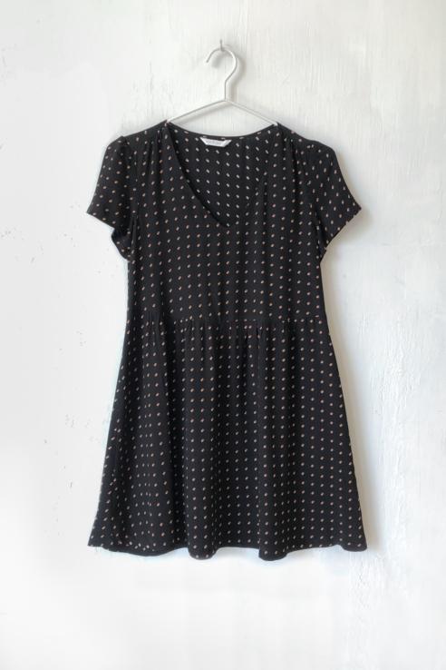 dots print short dress