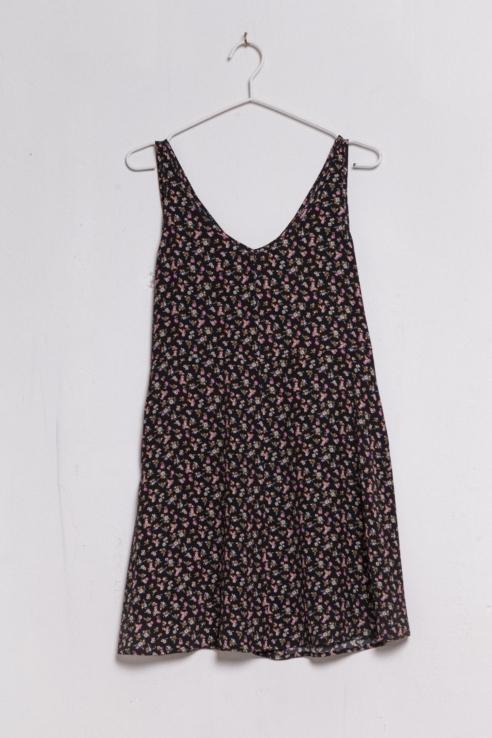 robe courte imprimé fleurs