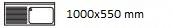 1000X550 mm