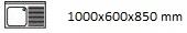 1000X600X850 D