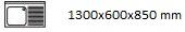1300X600X850 D
