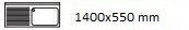 1400X550 mm
