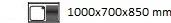 1000X700X850 mm