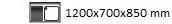 1200X700X850 mm