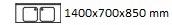 1400X700X850 mm