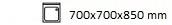 700X700X850 mm