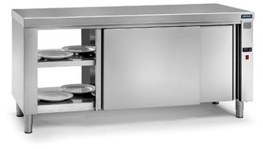 mesa caliente central pasante gama 600 distform