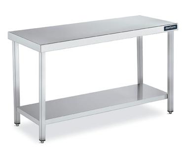 mesa central gama 700 con estante distform