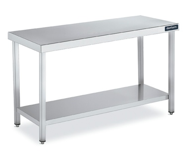 mesa central gama 800 con estante distform