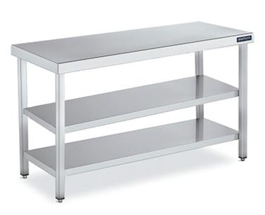 mesa central gama 700 con doble estante distform