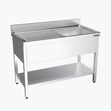fregadero con estante acero inoxidable gama 550 distform