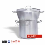 CONJUNTO CUSCUSERA BOMBEADA ACERO INOXIDABLE