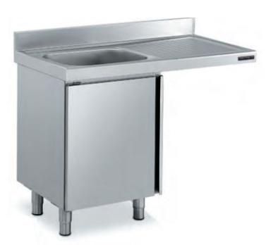 fregadera con espacio para lavavajillas distform