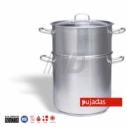 CONJUNTO CUSCUSERA FORMA RECTA ACERO INOXIDABLE