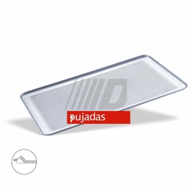 bandeja pasteleria aluminio perforada pujadas