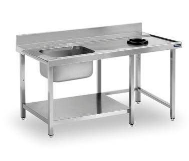 mesas prelavado con aro desbarace distform