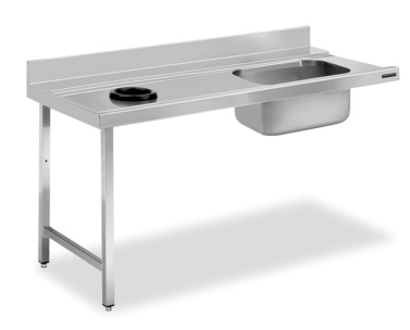 mesa prelavado con aro desbarasado distform
