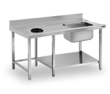 mesas prelavado con aro desbarasado distform