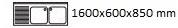 1600X600X850 mm