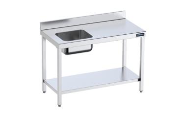 mesa chef mural gama 600 con cubeta a izquierda distform