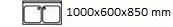 1000X600X850 mm