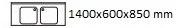 1400X600X850 mm
