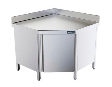 mesa de trabajo angular con puerta distform
