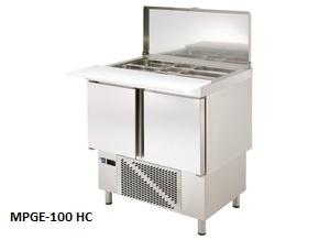 mesas refrigeradas para hosteleria de preparacion ensaladas y pizzas edenox