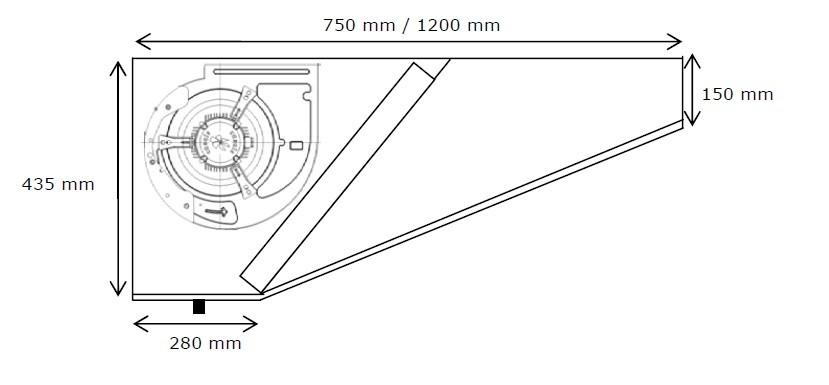 Campana extractora motor maquinaria hosteleria deldivel - Campana extractora medidas ...