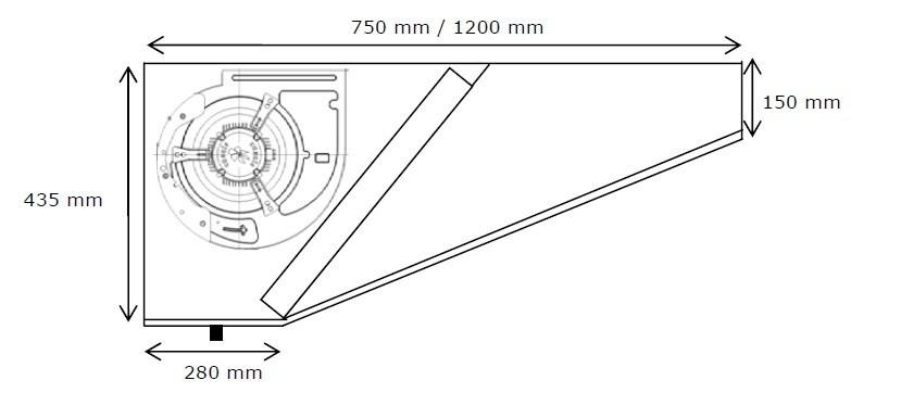 Campana extractora industrial motor maquinaria hosteleria - Campana extractora medidas ...