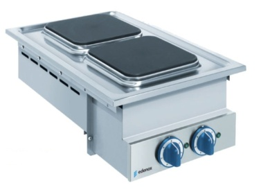 cocina electrica industrial encastrable para show cooking buffet self service