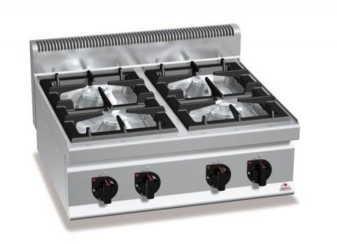 Cocina profesional gas berto cocinas industriales deldivel for Cocina 3 fuegos sobremesa