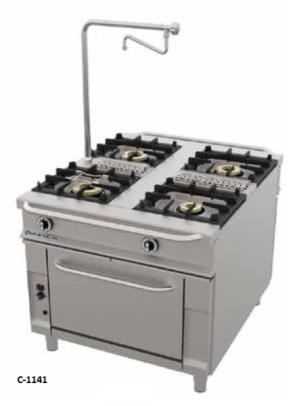 cocina gas con horno serie 1100 repagas