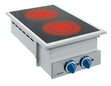 cocina vitroceramica encastrable para buffet drop in show cooking